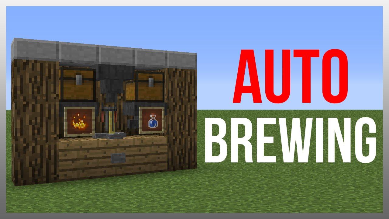 Minecraft 1 12 Redstone Tutorial Brewing Station V4 Youtube