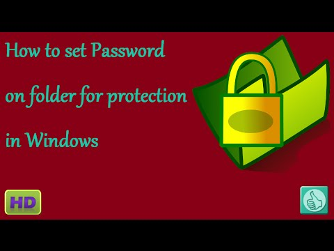 how to add a password to a folder