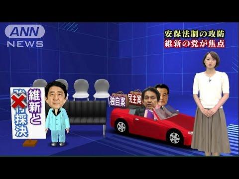 安保法制 「維新」独自案で焦点に 与党・民主は?(15/07/08)