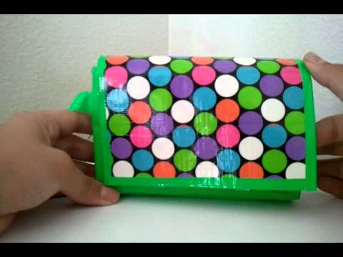 Mini duct tape purse youtube for Mini duct tape crafts