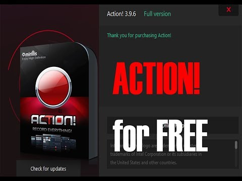 How to get Action! Screen Recorder Full Version for Free! (works on latest version)