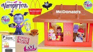 Vampirina Hauntley's Shipped Myself to McDonalds Drive Thru Prank Dolls Bedtime Routine Sleepover!