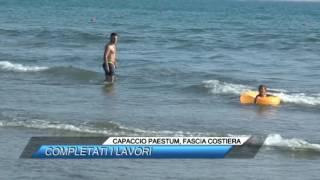 CAPACCIO PAESTUM, FASCIA COSTIERA COMPLETATI I LAVORI