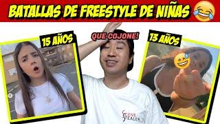 reaccionando a Batallas freestyle de nenas 🧒😂 en Freestyle mania