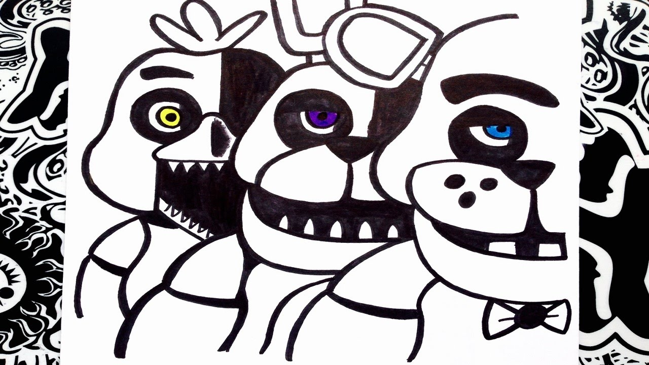 Nightmare Bonnie Coloring Pages