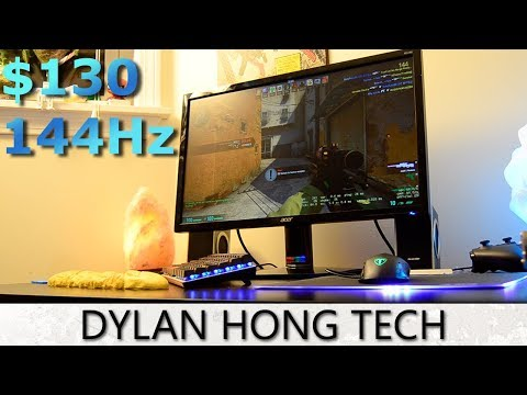 Cheapest 144Hz Monitor: Acer KG240 REVIEW/Unboxing 2018 - YouTube