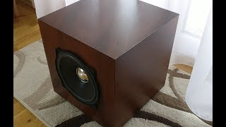 DIY Small Passive Sealed Subwoofer Resimi