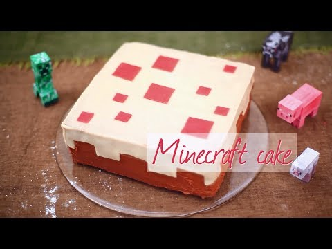 How To Make A Real Minecraft Cake Youtube
