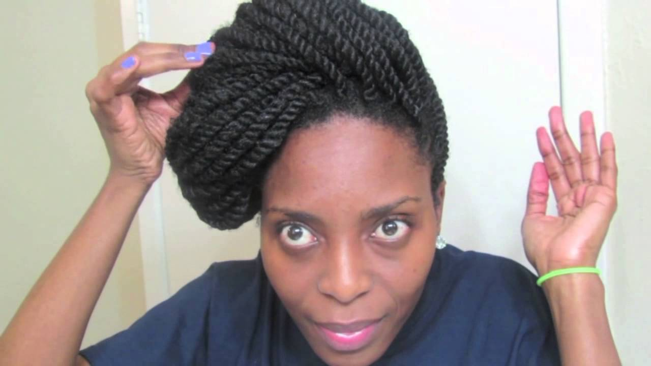 kinky twists updo tutorial, natural hair styles for mature women