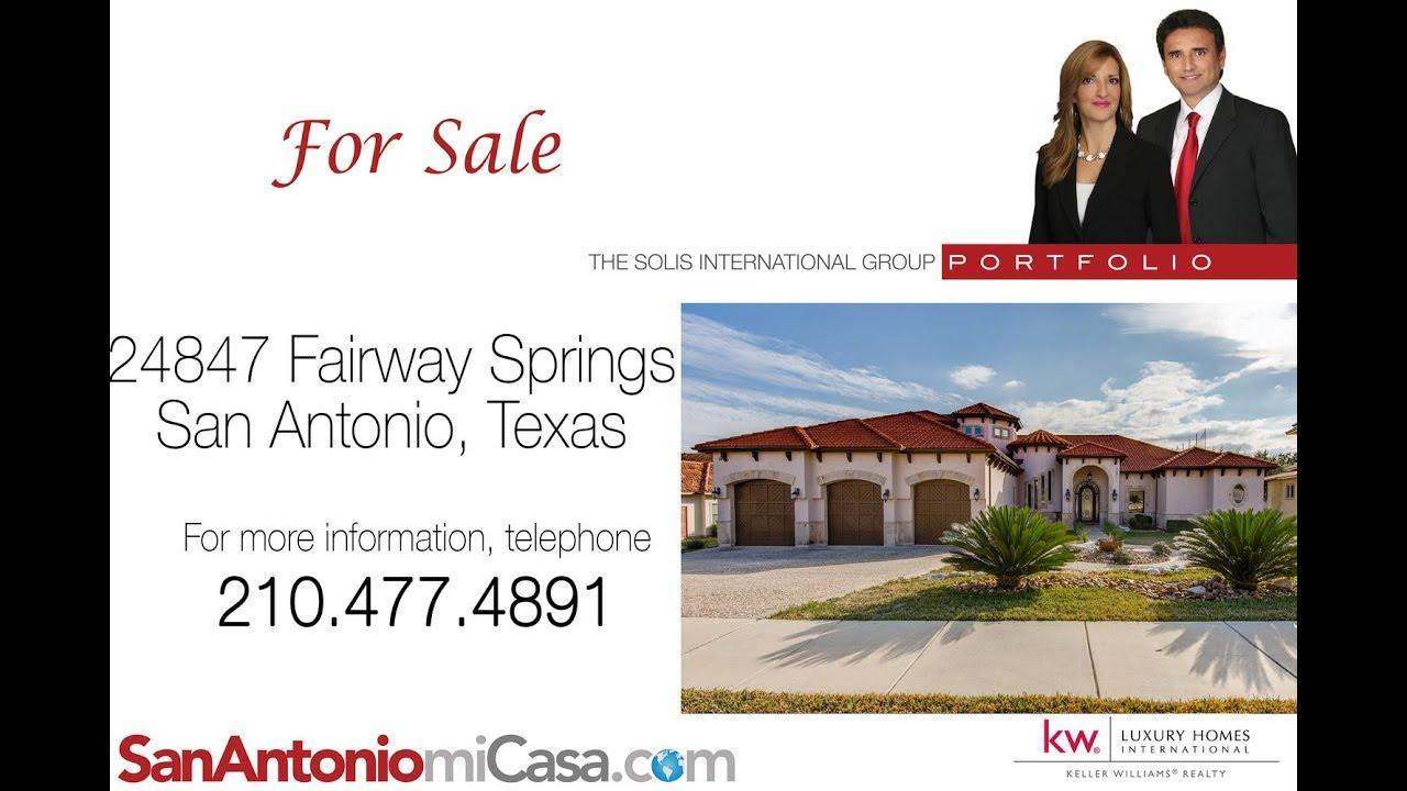 24847 Fairway Springs San Antonio Tx Virtual Tour Youtube