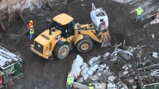 Cat 966H Wheel Loader Digging Dirt