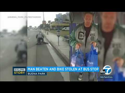 SHOCKING VIDEO: 65-year-old Man Nearly Beaten To Death At Buena Park Bus Stop | ABC7