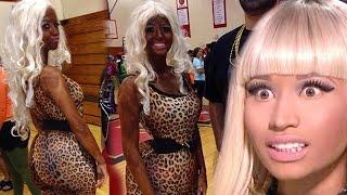 Repeat youtube video Teenager Shares Blackface Nicki Minaj Costume Online