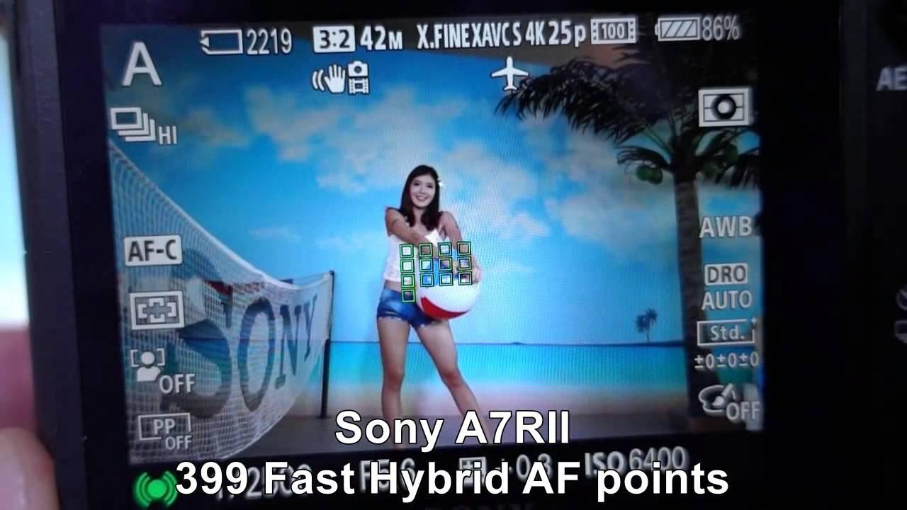 Sony A7R II : 399 Fast Hybrid AF points performance