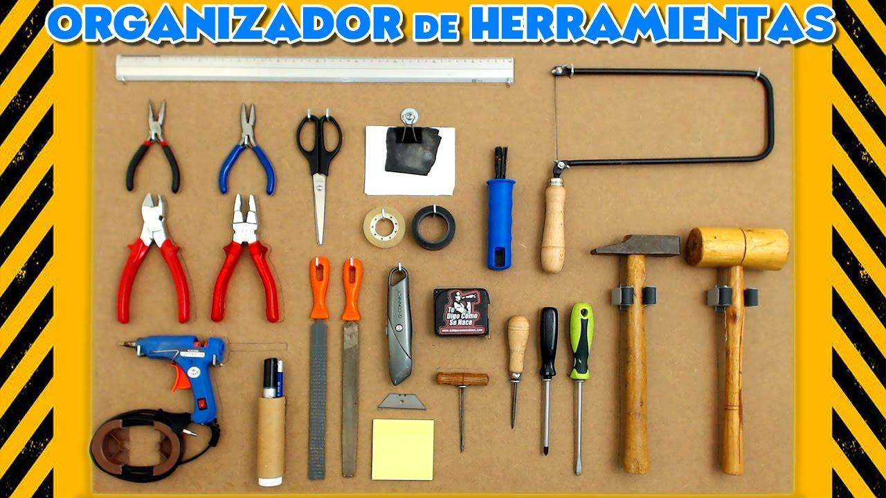 Panel organizador de herramientas youtube - Herramientas de madera ...
