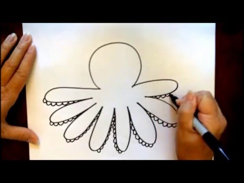 How to Draw a Cartoon Octopus Beginners Tutorial YouTube