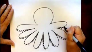 How To Draw A Cartoon Octopus Beginners Tutorial