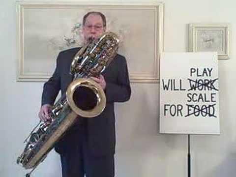 Bass saxophone jazz  - Charlie Parker Bebop