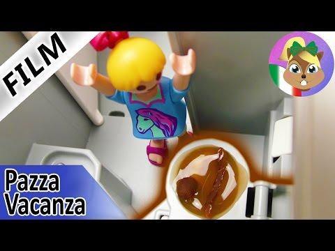 Playmobil Film: ANNA INTOPPA IL WC DELL'AEREO! - Famiglia Vogel in viaggio | Pazza vacanza