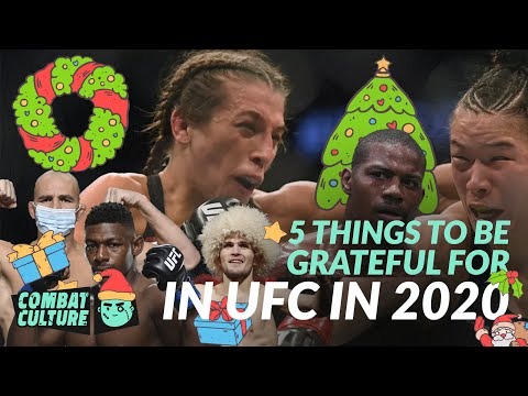 5 Things to be Grateful for in UFC in 2020