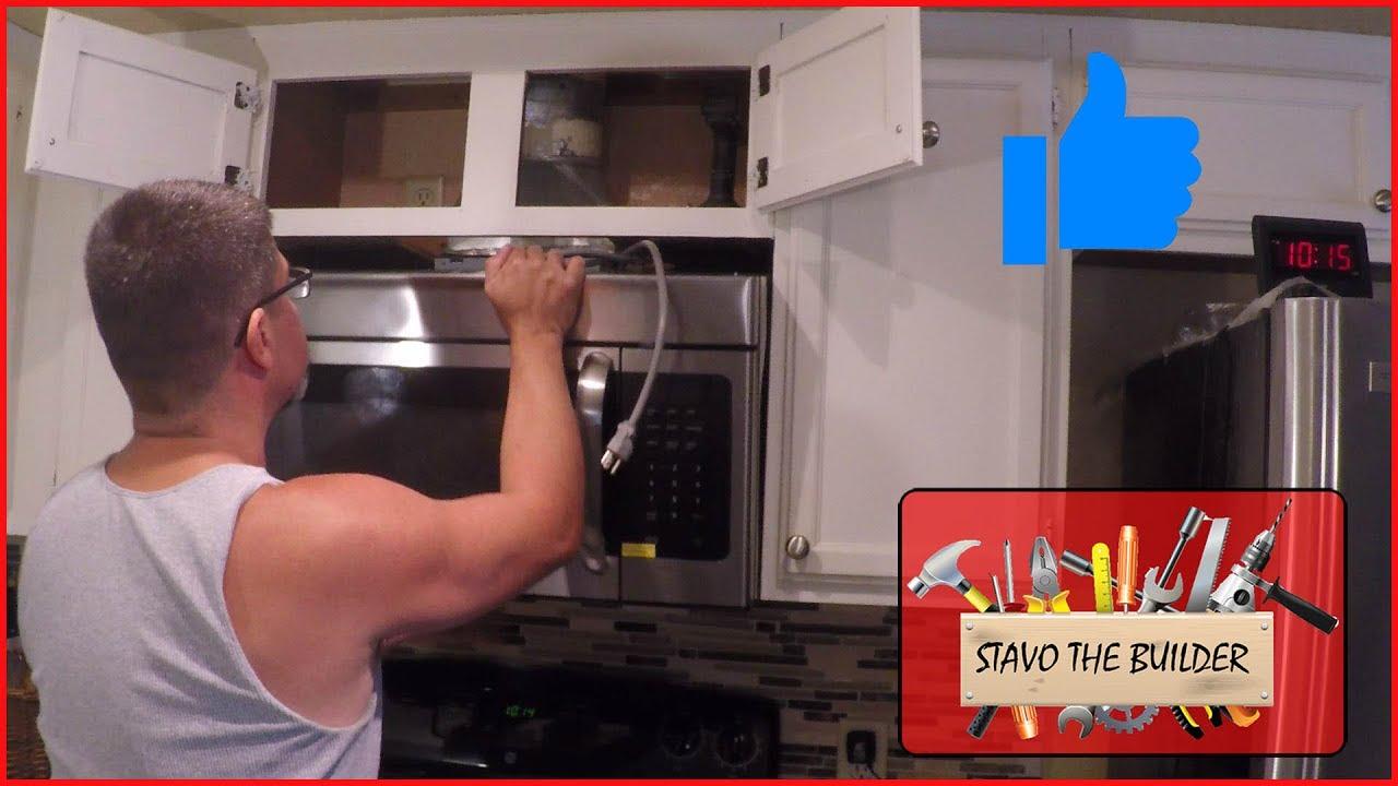 Como Instalar un Microondas  Microwave installation  YouTube
