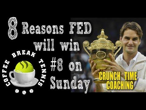 Wimbledon 2017 Top 8 Reasons Fed WINS his 8th Wimbledon Sunday CBT12