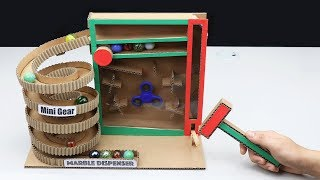 How to Make BIG Marble Dispenser Machine from Cardboard