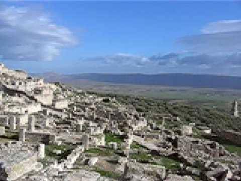 TUNISIA, DOUGGA - roman archaeological site - my travels video audio swap -