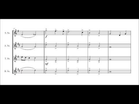 A Minute Christmas Concert for saxophone quartet