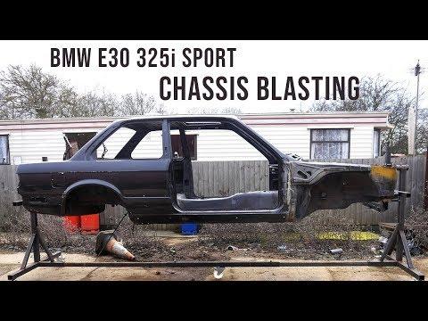 BMW E30 Chassis Shot Blasting Time-lapse Restoration   BMW E30 325i Sport Restoration S1E10