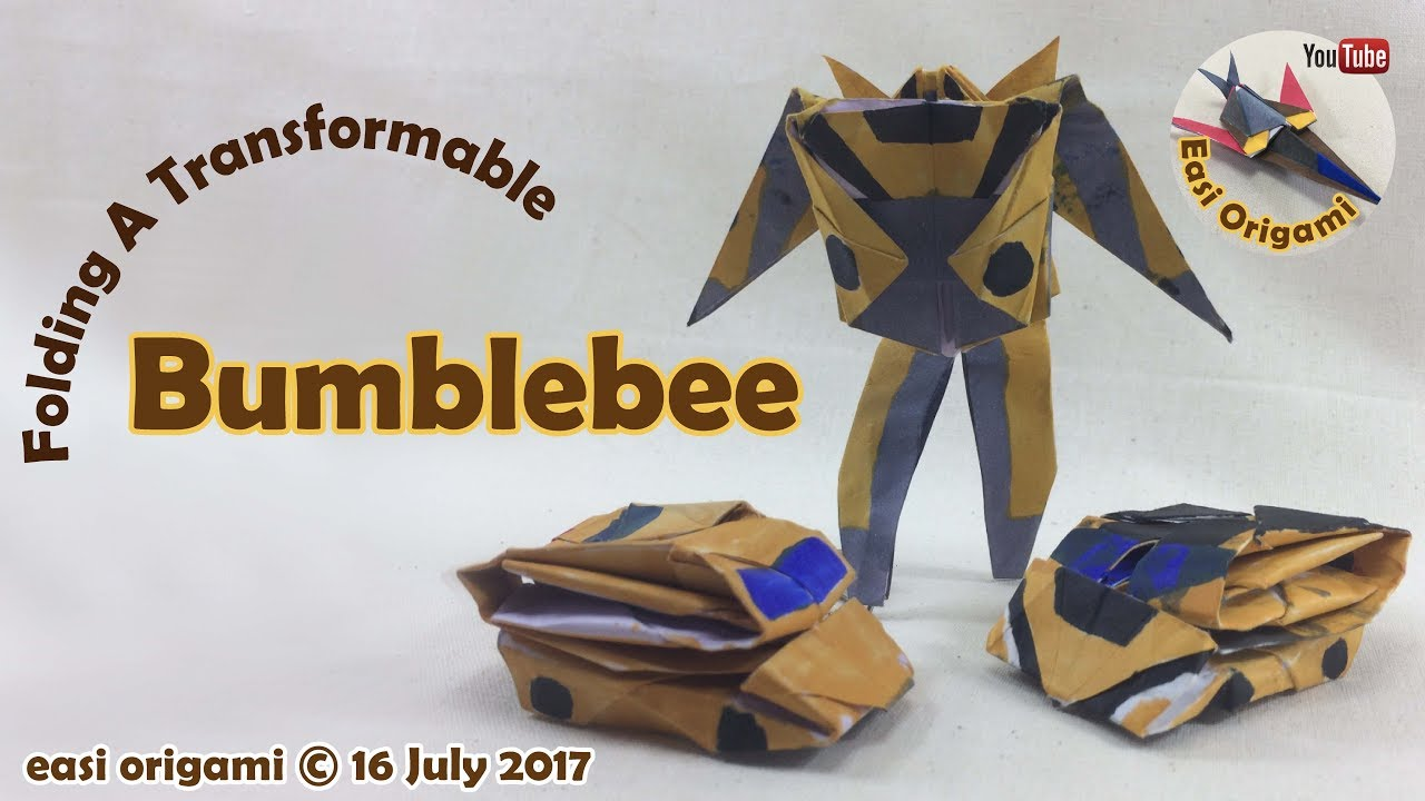 How To Make A Papercraft Origami Transformer Bumblebee Requires 1