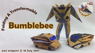 How to make an Origami Transformer Bumblebee