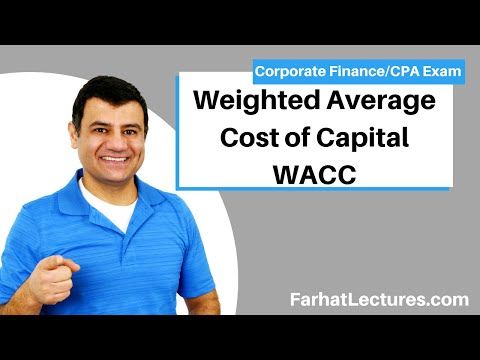Weighted Average Cost Of Capital WACC |   Check Description For Updated Recording | Chp 14 P 4