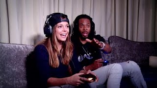 Richard Sherman plays Call of Duty with Katie Nolan