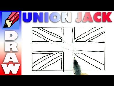 how to draw the British Flag RealEasy - Union Jack