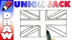 how to draw the British Flag RealEasy - Union Jack