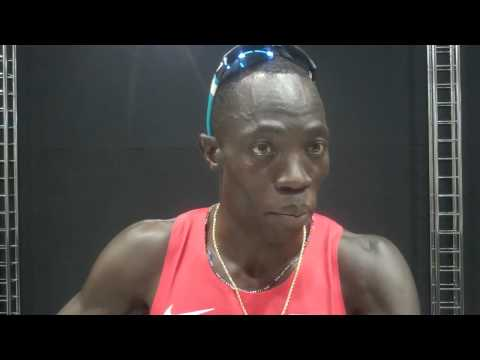 Lopez Lomong After 1500m Semifinal