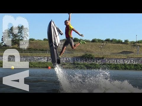 Jet ski freestyle tricks at Alpe Adria Tour race, by Aleksandar Petrovic - European champion