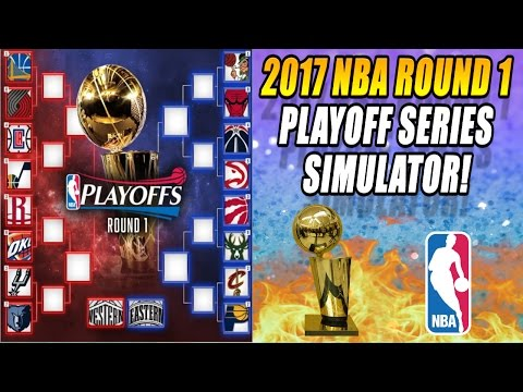2017 NBA Playoffs Round 1 - Playoff Series Simulator