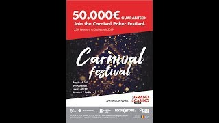 Day 1B Main Event Carnival Festival 2019 Grand Casino de Namur