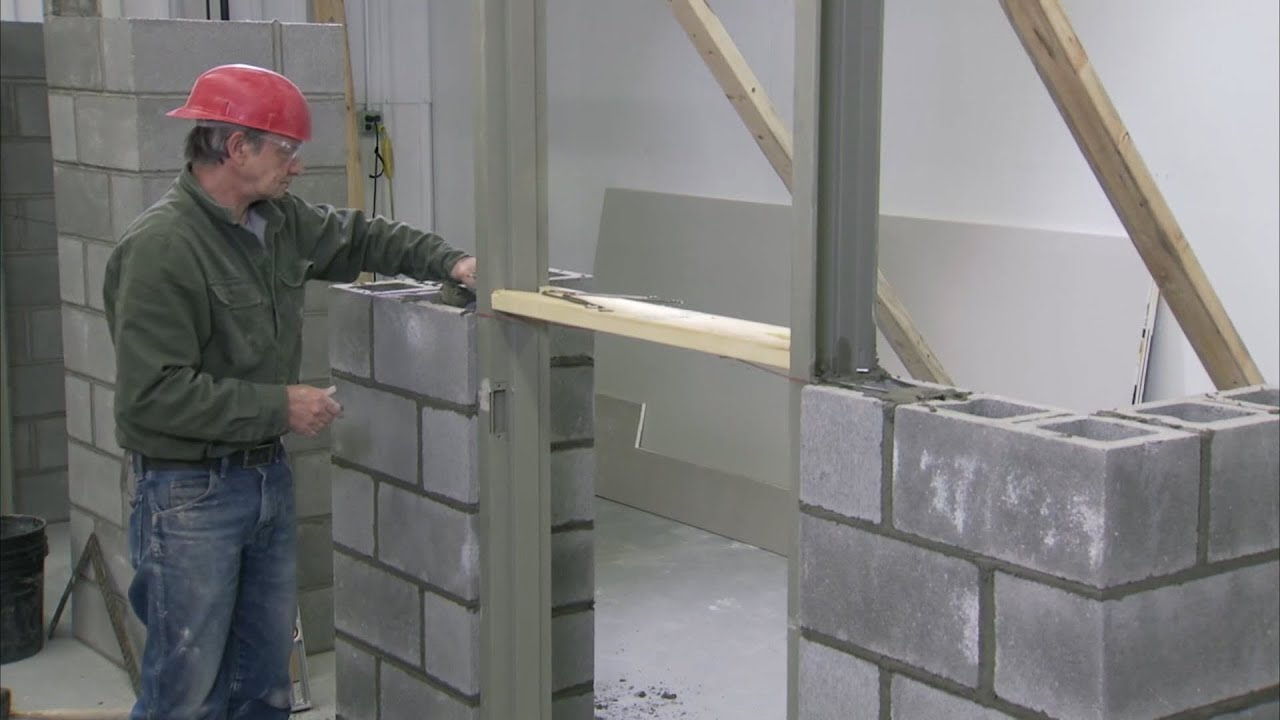 how to install a steel door frame in masonry construction youtube