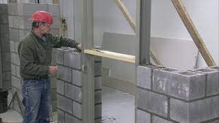 How to Install a Steel Door Frame in Masonry Construction