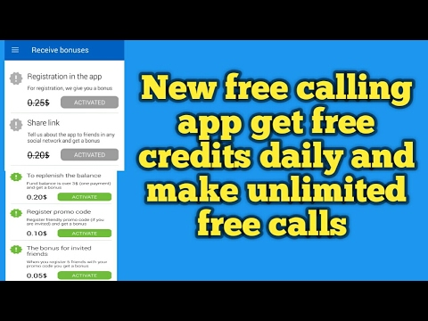 New free calling app get 0.45$ credits in one minute and earn free credits