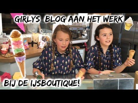 Girlys Blog aan het werk bij de ijsboutique!
