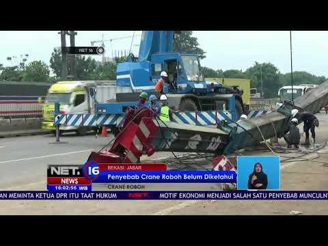 Penyebab Crane Roboh di Bekasi Masih Belum Diketahui - NET16