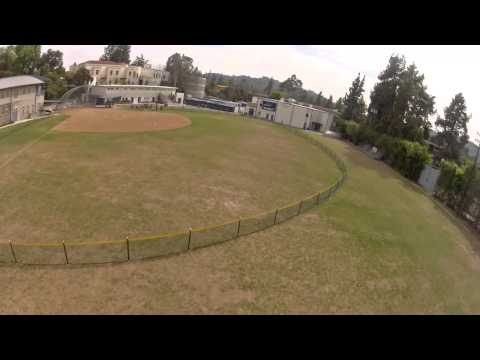 Quadcopter flight over Flintridge Preparatory School