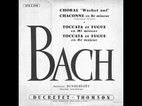 "AGNELLE BUNDERVOET plays BACH/BUSONI Choral ""Wachet auf..."" BWV 645 (1954)"