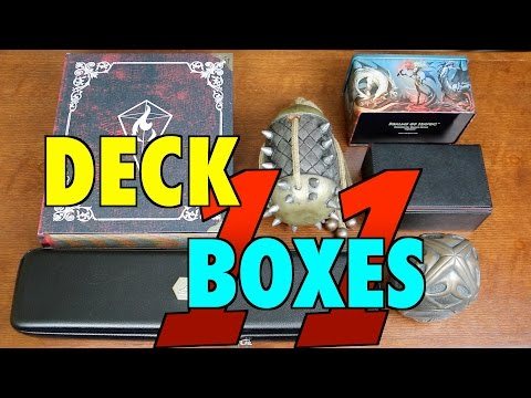 MTG - Deck Boxes 11 by Quiver, Dex Protection, Grimoire, Leifkicker for Magic: The Gathering