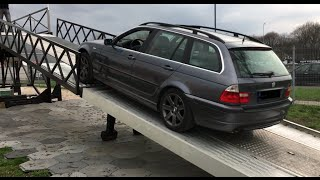 BMW e46 AWD (xDrive) on a new BMW X1 test track - GenerationX event