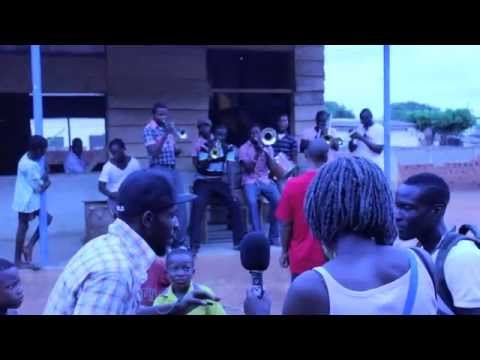 Ghanaian rapper Yaa Pono with brass band live in Accra